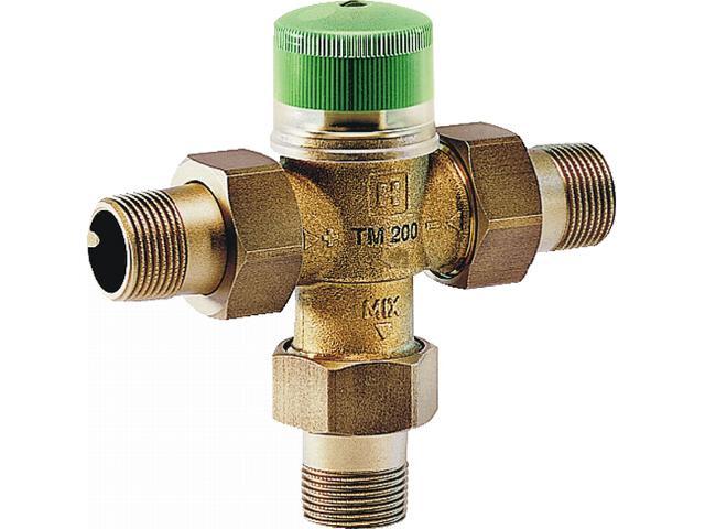 """Zawór termostatyczny cwu 3/4"""" ze śrubunkami gwintowanymi zakres 30-60°C TM200-3/4A Honeywell"""