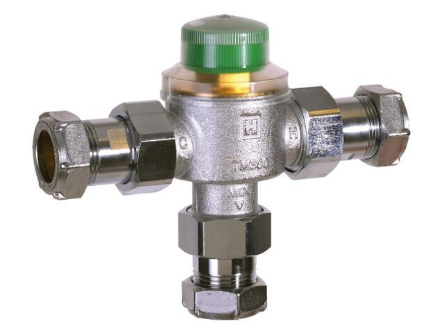 """Zawór termostatyczny 3/4"""" ze zwiększonym przepływem zacisk 28 mm TM300-3/4I Honeywell"""