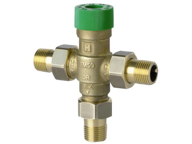 Zawór mieszający termostatyczny do c.w.u bez śrubunków zakres 30-60°C TM50-1/2E Honeywell
