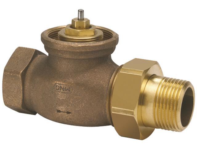 """Zawór zasilający termostatyczny kątowy z wkładką H 1"""" V2050EH025 Honeywell"""