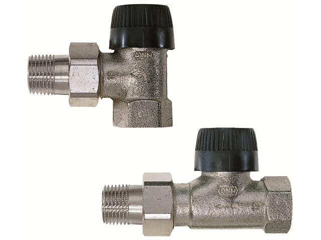"""Zawór zasilający termostatyczny kątowy z wkładką BB 3/4"""" długi korpus V2000EBB20 Honeywell"""