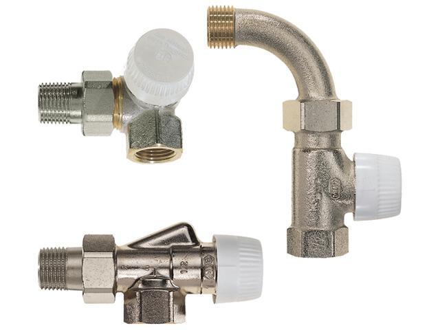 """Zawór zasilający termostatyczny narożny prawy z wkładką UBG 1/2"""" V2000RUB15 Honeywell"""
