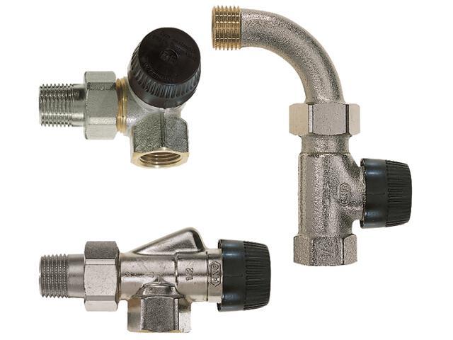 """Zawór zasilający termostatyczny narożny lewy z wkładką BB 1/2"""" V2000LBB15 Honeywell"""