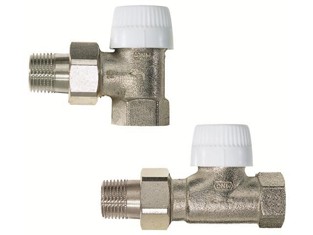 """Zawór zasilający termostatyczny kątowy z wkładką UBG 1/2"""" długi korpus V2000EUB15 Honeywell"""