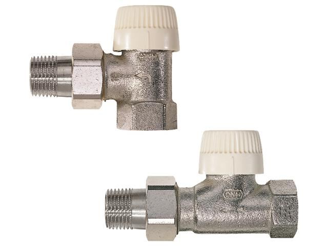 """Zawór zasilający termostatyczny kątowy z wkładką V 3/8"""" długi korpus V2000EVS10 Honeywell"""