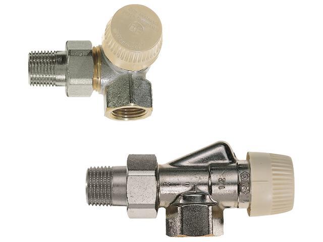 """Zawór zasilający termostatyczny narożny lewy z wkładką V 1/2"""" V2000LVS15 Honeywell"""