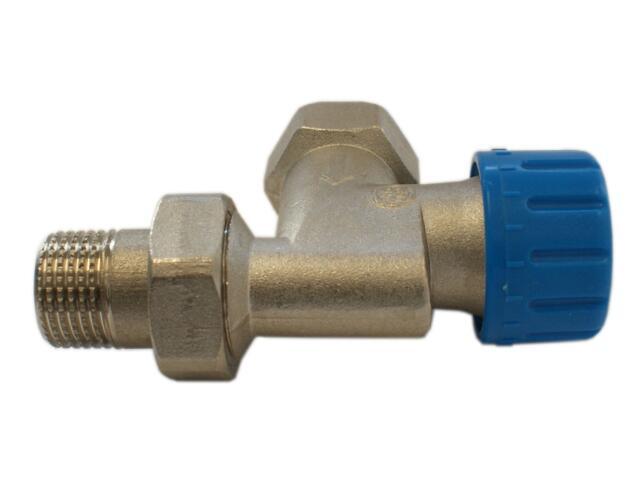 """Zawór zasilający termostatyczny DN15 1/2""""GZx1/2""""GW aksjalny niklowany Schlosser"""