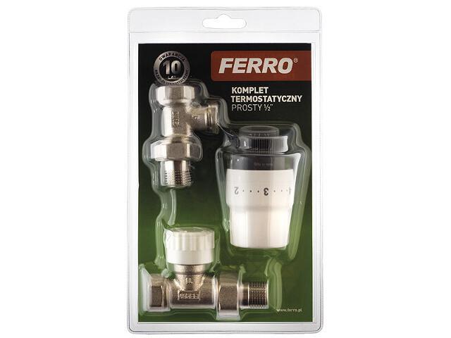 """Zestaw grzejnikowy termostatyczny prosty 1/2"""" ZTM05 Ferro"""