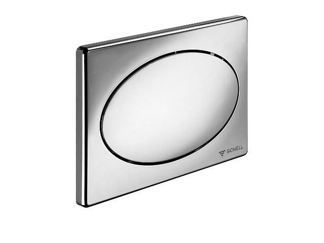 Płytka do stelaża podtynkowego do WC spłukiwanie dwustopniowe chrom 032620699 Schell