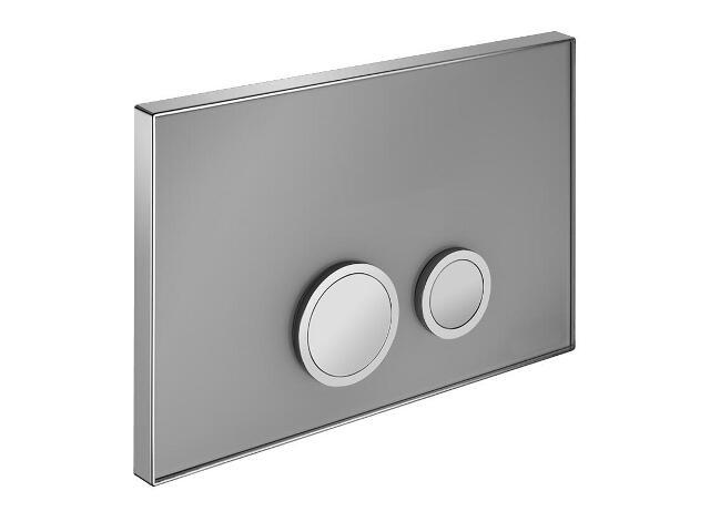 Płytka do stelaża podtynkowego luksusowa do WC spłukiwanie dwustopniowe czarna Schell