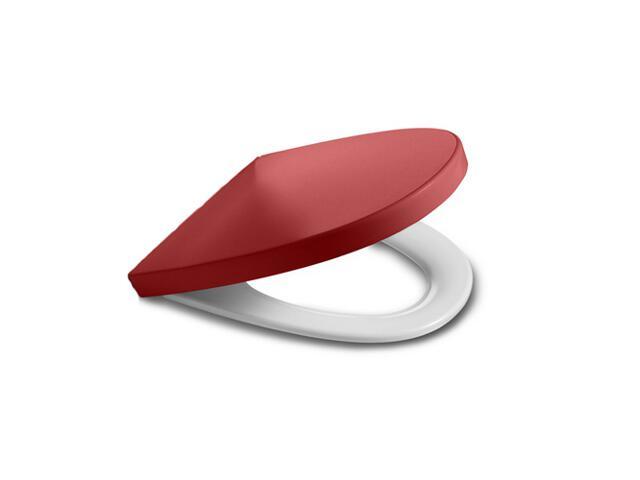 Deska sedesowa KHROMA SOFT TEXTURE PASSION RED wolnoopadająca A801652F3T Roca