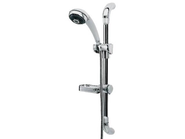 Zestaw prysznicowy AMETYST N45S, wąż, słuchawka 3-funkcje, drążek chrom satyna 16581102 Ferro