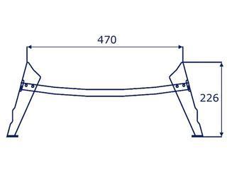 Nogi do wanny 100-170cm Emalia Olkusz