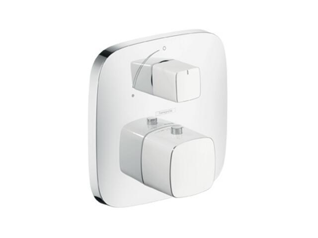 Bateria wannowa PuraVida termostat. podtynk. z zaworem odcin. biały/chrom 15775400 Hansgrohe