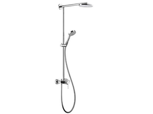 Zestaw prysznicowy Raindance 180 z bat. EcoSmart ramię chrom 27191000 Hansgrohe