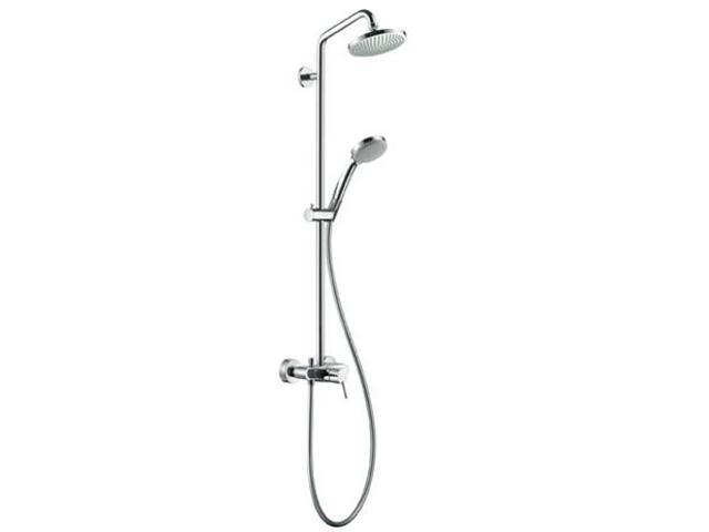 Zestaw prysznicowy Croma 100 z baterią chrom 27154000 Hansgrohe