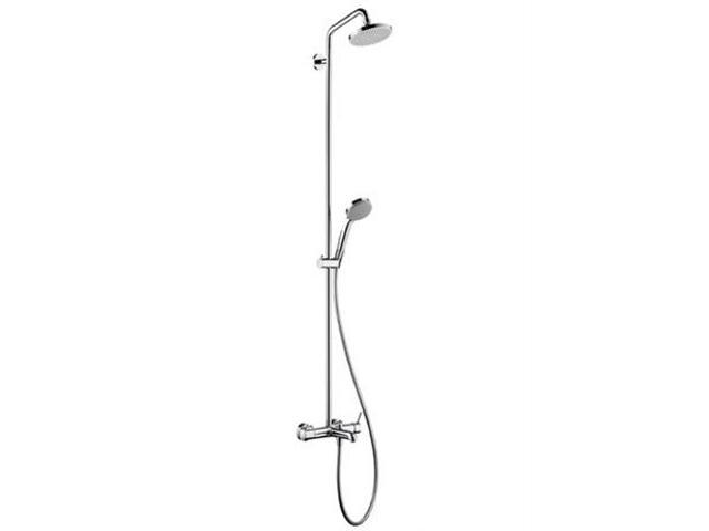 Zestaw prysznicowy Croma 100 do wanny z baterią EcoSmart chrom 27202000 Hansgrohe