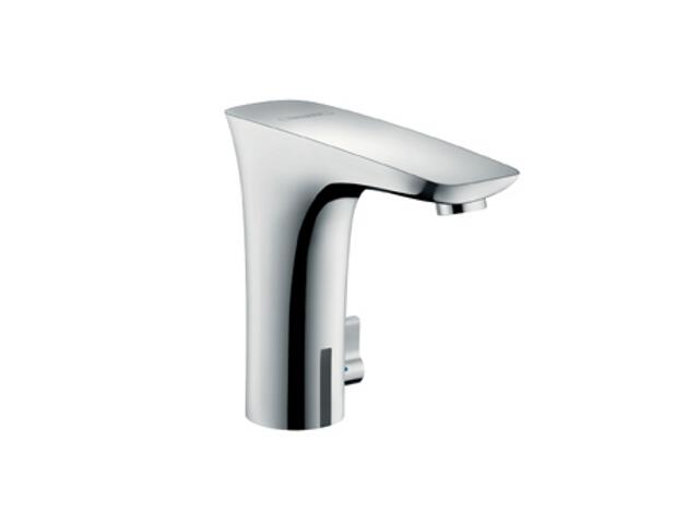 Bateria umywalkowa stojąca bezdotykowa PuraVida Electronic biały/chrom 6V 15170400 Hansgrohe