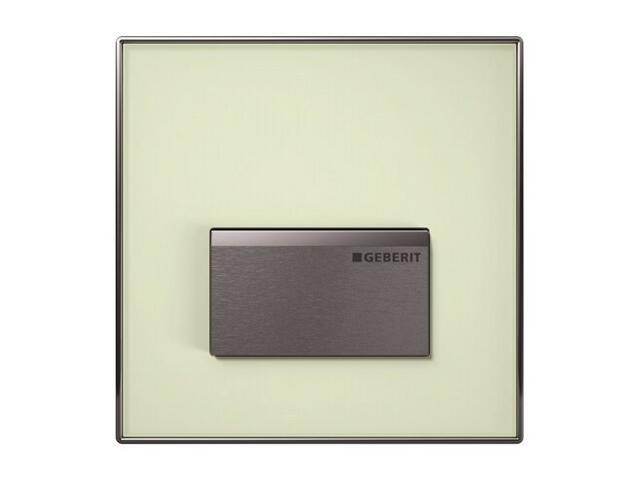 Zawór pisuarowy HyTouch, pneumatyczny, ręczny, Sigma50, szkło zielone (SE) 116.016.SE.1 Geberit