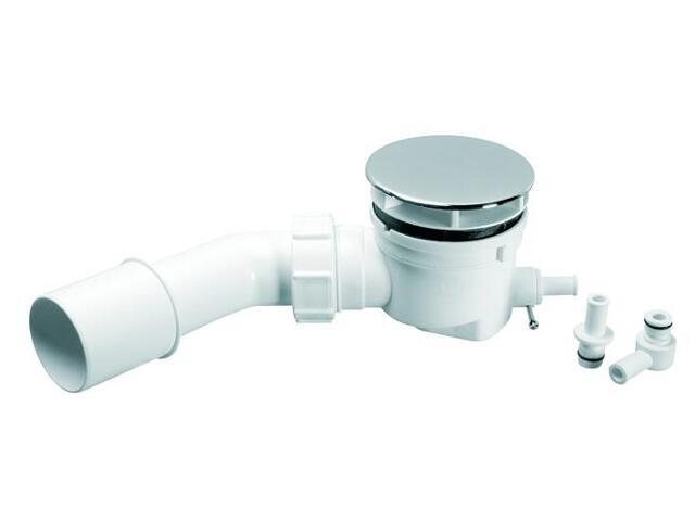 Syfon brodzikowy niski 65mm 40/50mm pokrywa stal (HC252588-ST) McAlpine