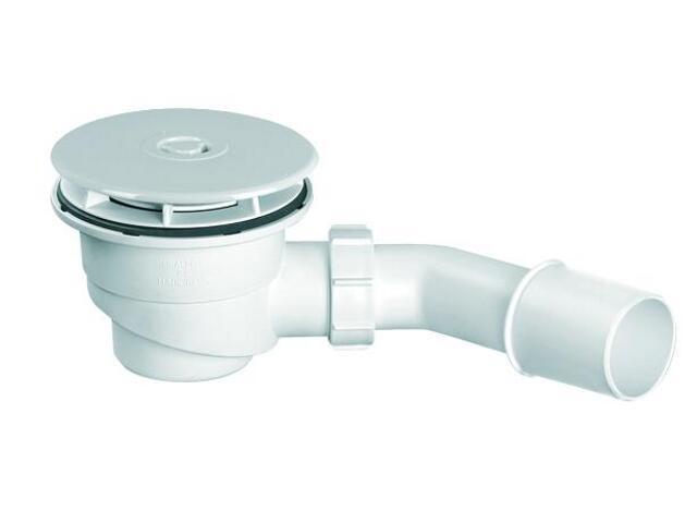 Syfon brodzikowy wys.80mm 40/50mm pokrywa ABS biały 113mm (HC27-WH) McAlpine