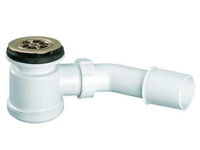 Syfon brodzikowy wys.90mm 40/50mm pokrywa ABS złoty 70mm (HC26-GOLD) McAlpine