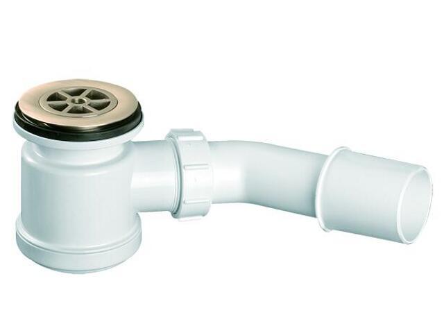 Syfon brodzikowy wys.90mm 40/50mm pokrywa mosiądz chrom 70mm (HC26SCPB) McAlpine