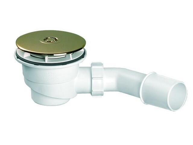 Syfon brodzikowy wys.80mm 40/50mm pokrywa ABS złoty 113mm (HC27-GP) McAlpine