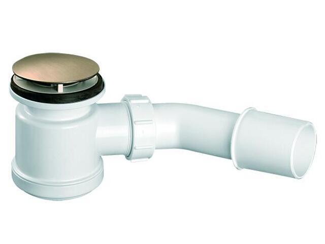 Syfon brodzikowy wys.90mm 40/50mm pokrywa stal nierdz. satyna 70mm (HC26-SC) McAlpine