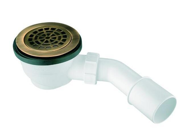 Syfon brodzikowy wys.80mm 40/50mm pokrywa mosiądz brąz ant. 113mm (HC27-ABBR) McAlpine