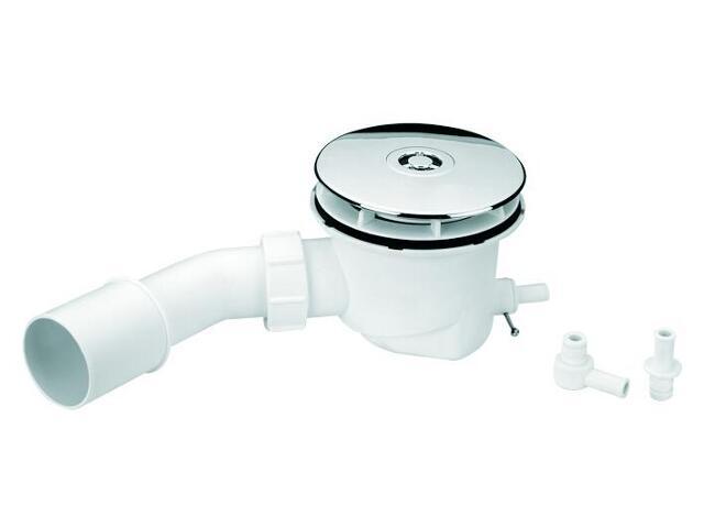 Syfon brodzikowy wys.80mm 40/50mm pokrywa ABS chrom 113mm z drenażem (HC27-ST-CP) McAlpine