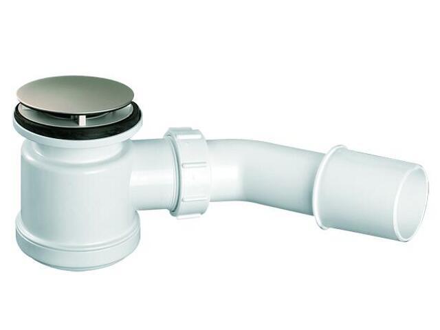 Syfon brodzikowy klik-klak 40/50mm pokrywa mosiądz st.szcz. 70mm (HC26CLSN) McAlpine