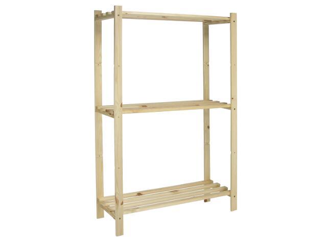 Regał drewniany ażurowy nielakierowany 3 półki BS- RDA3p/650 Bayersystem