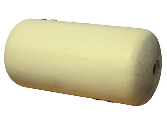 Wymiennik c.w.u. (bojler) dwupłaszczowy 140L w żółtej piance poliuretanowej poziomy Galmet