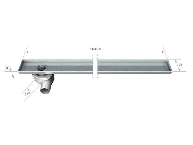 Rynna do odwodnienia liniowego STANDARD 700mm Akces