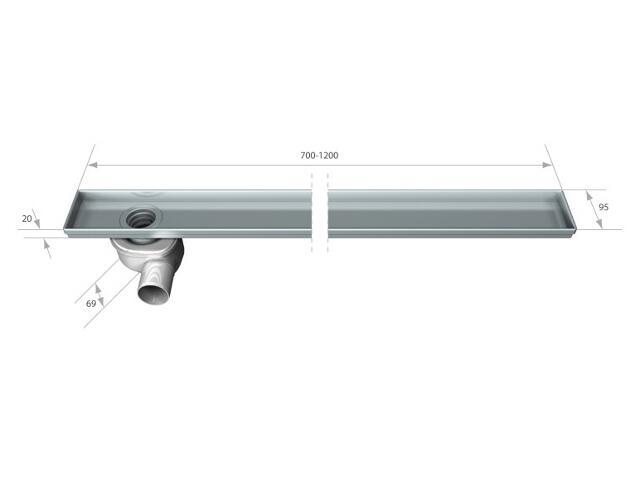 Rynna do odwodnienia liniowego STANDARD 800mm Akces