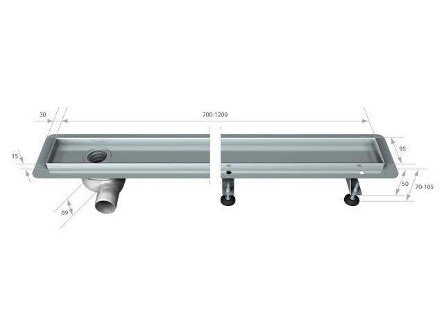 Rynna do odwodnienia liniowego PREMIUM 760mm Akces