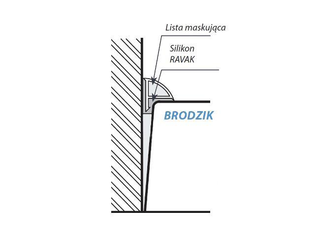 Listwa maskująca brodzikowa 2m biała B410000001 Ravak