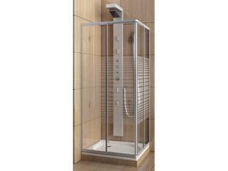 Kabina prysznicowa kwadratowa VARIABEL 80-90 szkło wzór pasy 101-26950 Aquaform