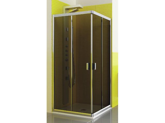 Kabina prysznicowa kwadratowa LAZURO 90 profil chrom, szkło grigio 101-06585 Aquaform