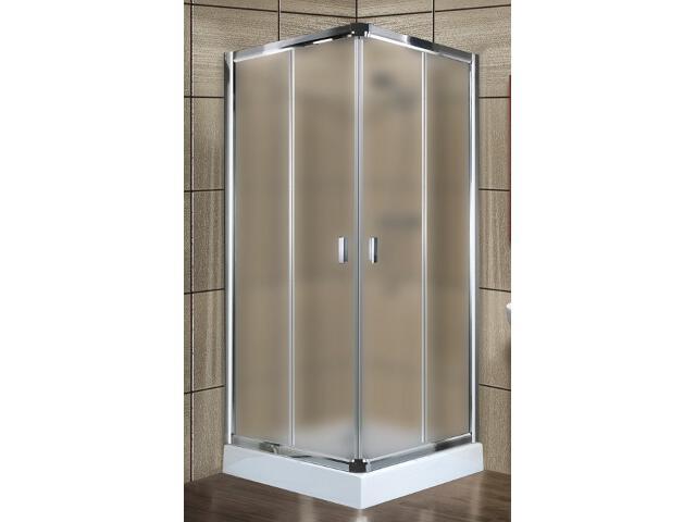 Kabina prysznicowa kwadratowa LAZURO 90 profil chrom, szkło satinato 101-06589 Aquaform