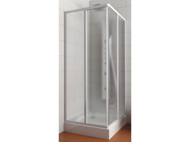 Kabina prysznicowa kwadratowa AURA 80 profil biały, szkło wzór crepi 101-06024 Aquaform