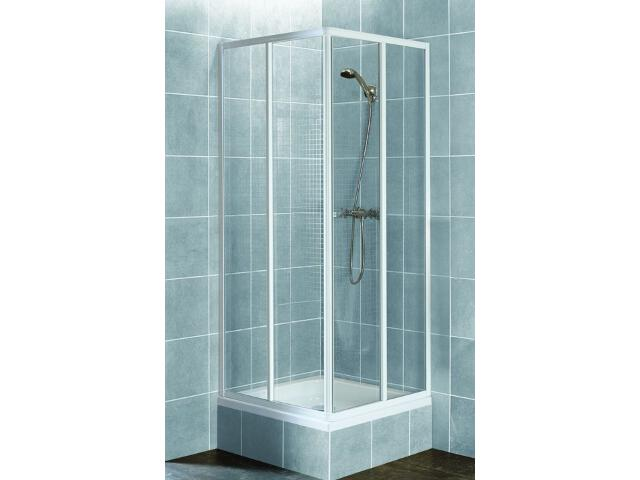 Kabina prysznicowa kwadratowa AURA 80 profil biały, szkło wzór siatka 101-06026 Aquaform