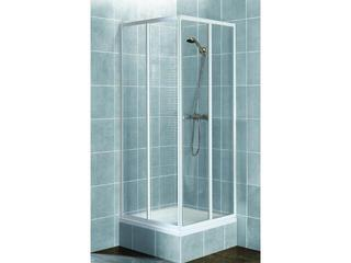 Kabina prysznicowa kwadratowa AURA 90 profil biały, szkło wzór siatka 101-06027 Aquaform