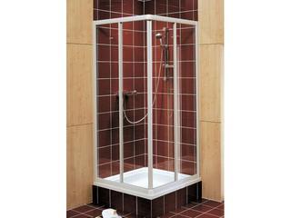 Kabina prysznicowa kwadratowa AKORD 80x80cm szkło hartowane, profil biały RKDK80222000 Koło