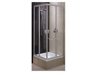 Kabina prysznicowa kwadratowa FRESH 90 mat, szkło hartowne w paski BKDK90211001 Koło