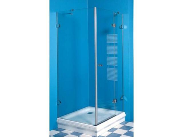 Kabina prysznicowa kwadratowa GLASSLINE GSDPS-90/90 P, szkło transparentne 0BP77A00Z1 Ravak