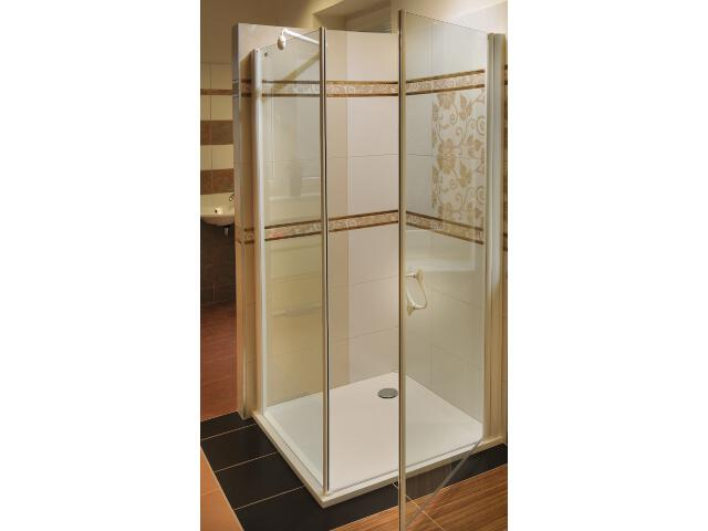 Kabina prysznicowa kwadratowa ELEGANCE ESKPS-80 P szkło transparentne 1MP40100Z1 Ravak