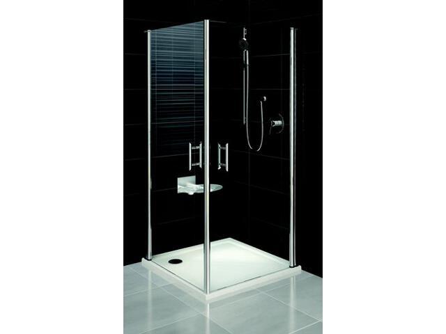 Kabina prysznicowa kwadratowa ELEGANCE ESKR2-80, szkło transparentne 1JE40A00Z1 Ravak