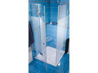 Kabina prysznicowa kwadratowa GLASSLINE MATRIX GSDPS-80/80 L, szkło wzór 0BL44A00ZM Ravak